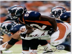 #52 Denver Bronco Ian Gold